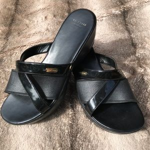 Cole Haan Patent and Leather Wedge Sandal